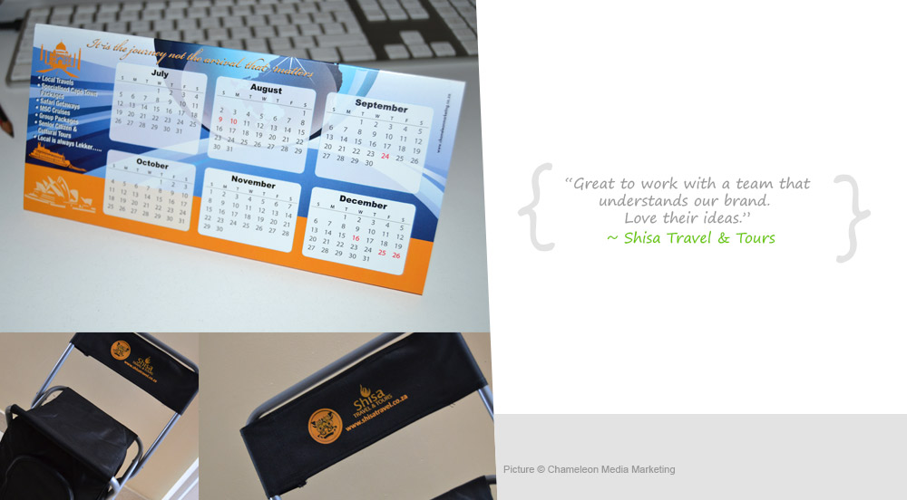 Travel Agency client Gifts and calendars