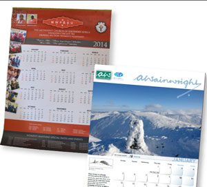 A4 Printed Calendars, South Africa