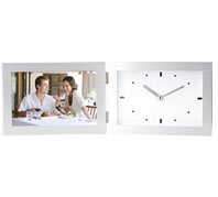 Aluminum Photo Frame with Clock, South Africa