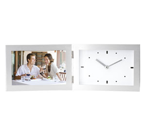Aluminum Photo Frame with Clock,South Africa