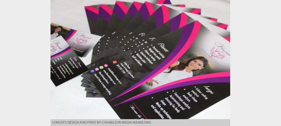 Design and Print of Business Cards, Flyers and Posters by Chamelon Media Marketing