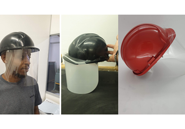 rotective Hard Hat with Shield
