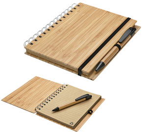Bamboo Notebook and Pen