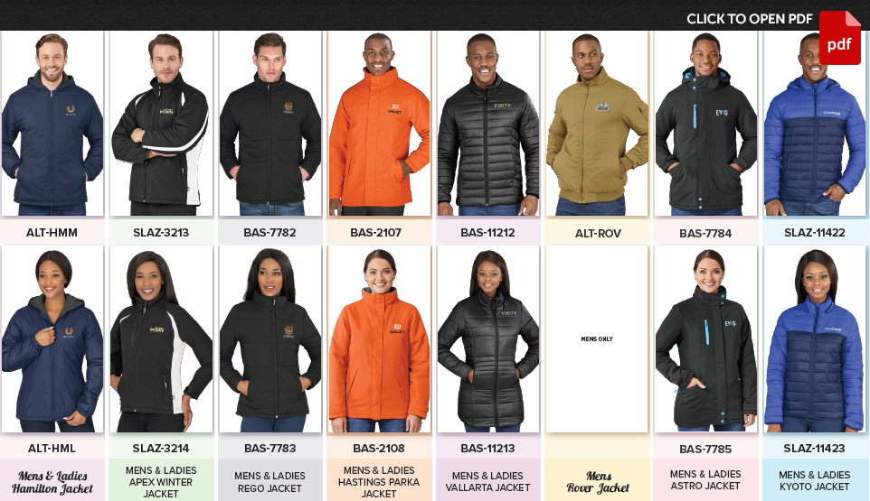 Heavy Weight JACKETS (PADDED/INSULATED)